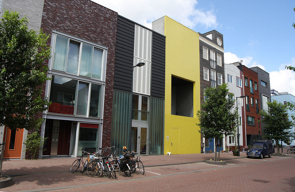 Colorful houses on IJburg