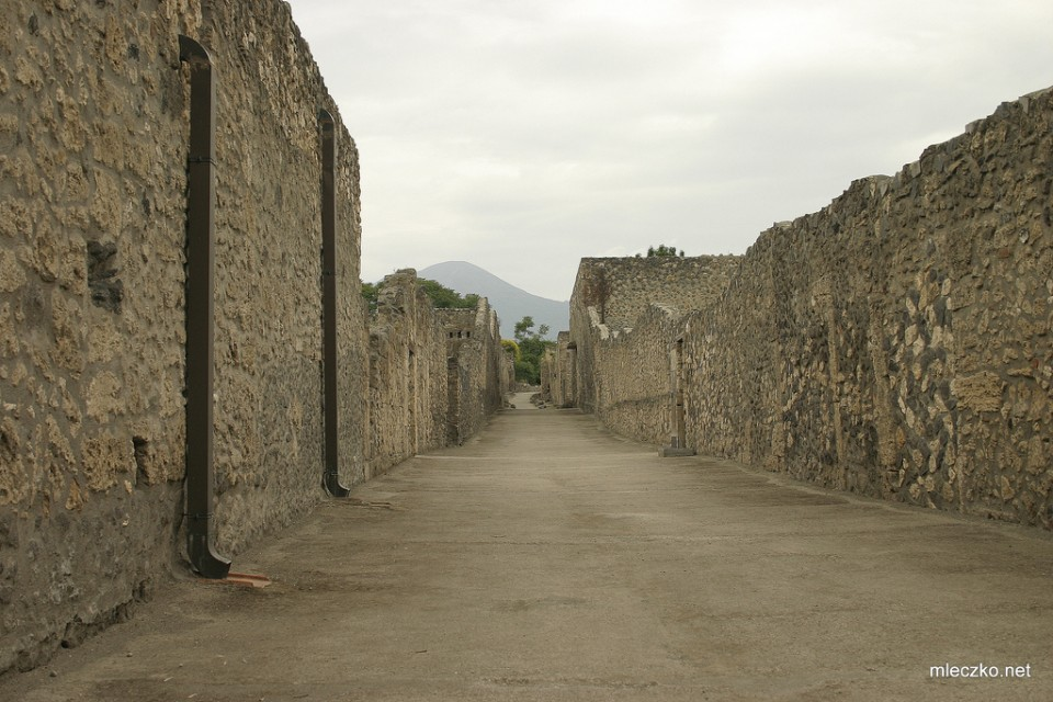 Ancient street in Pompeii