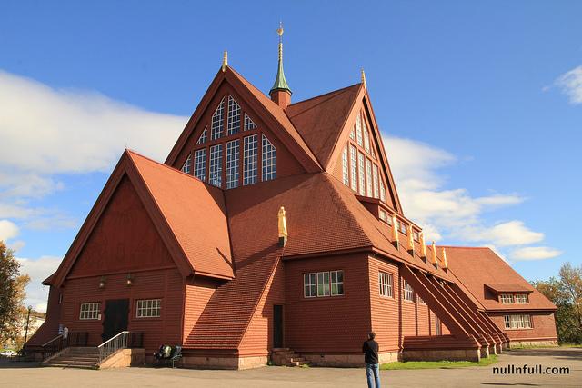 Kiruna, the church