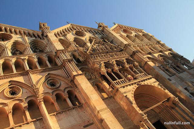 Ferrara, the facade of the Duomo