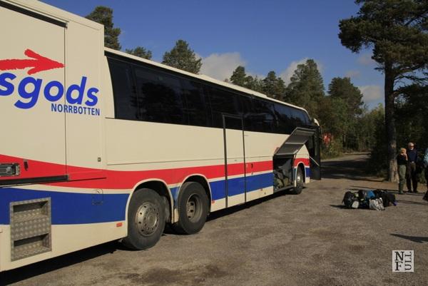 Bus in Lapland