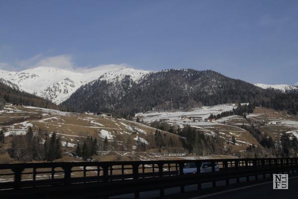 Autostrada in the Italian Alps, near Trento
