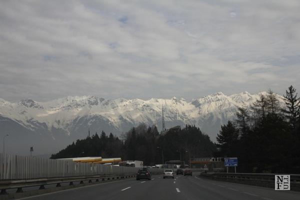 Autobahn in Austria near Innsbruck