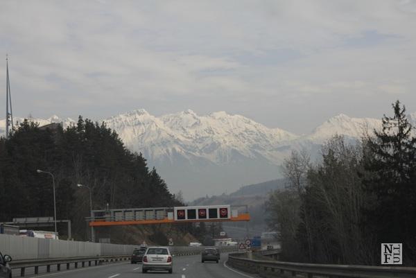Autobahn in Austria with speed limit