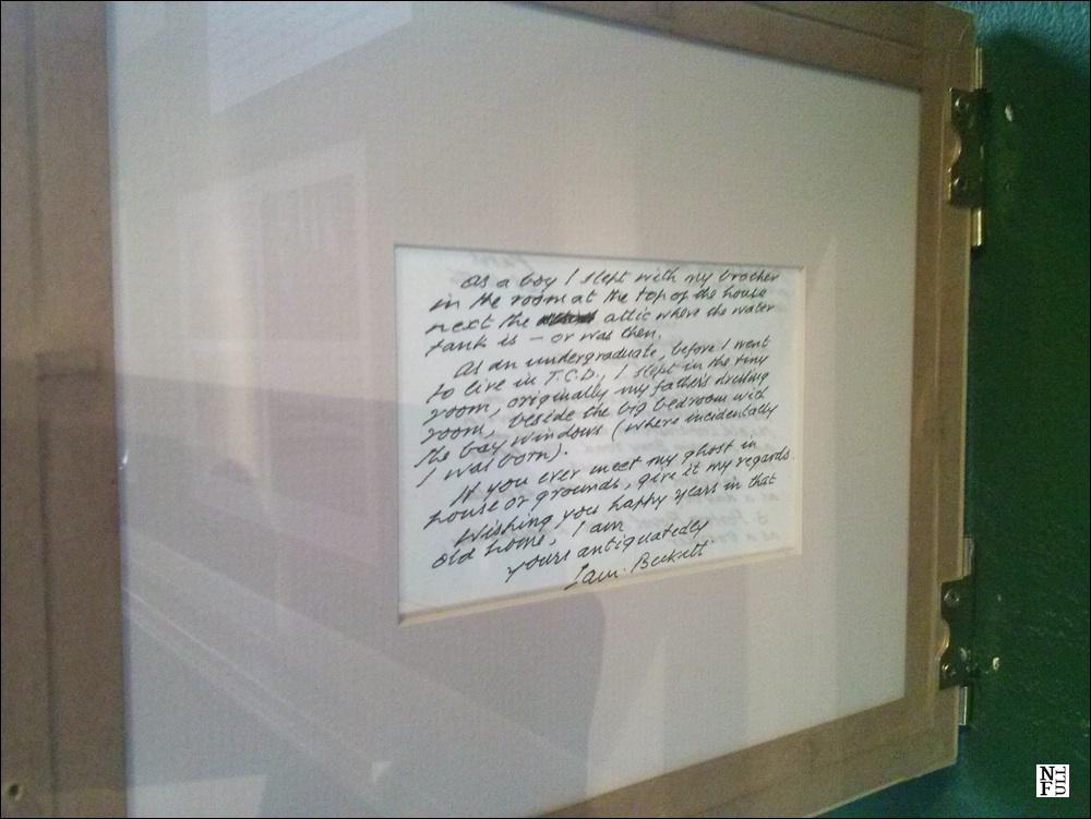 Letter by Beckett