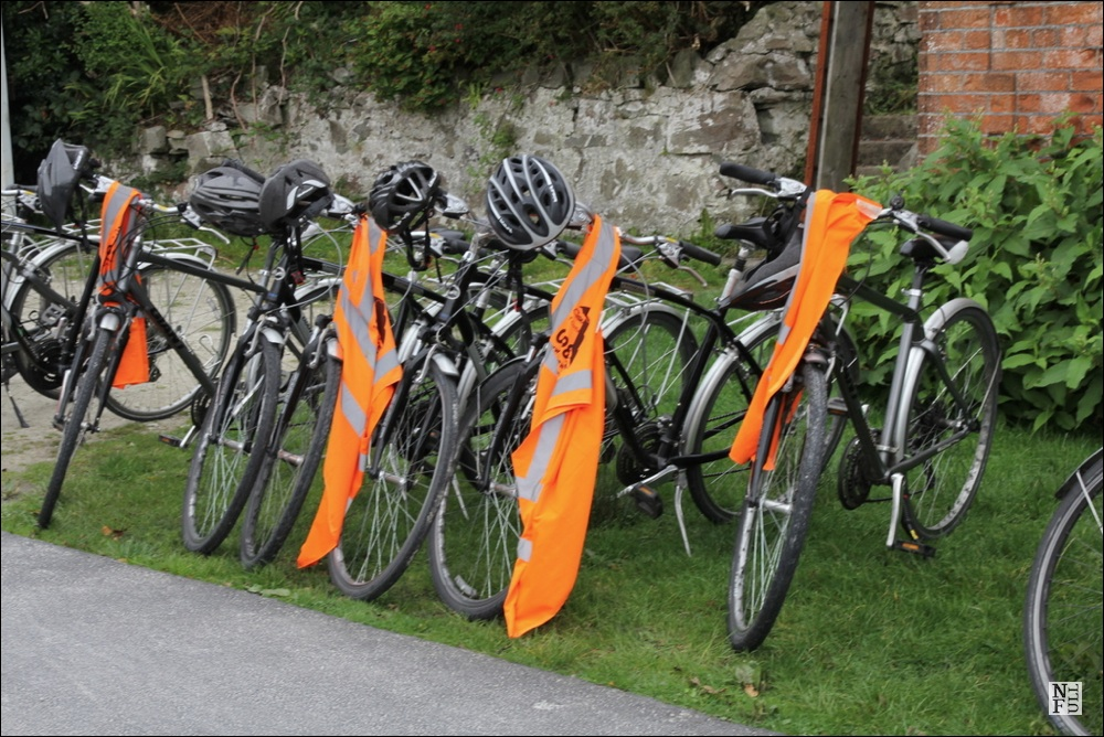 Bikes waiting for the riders
