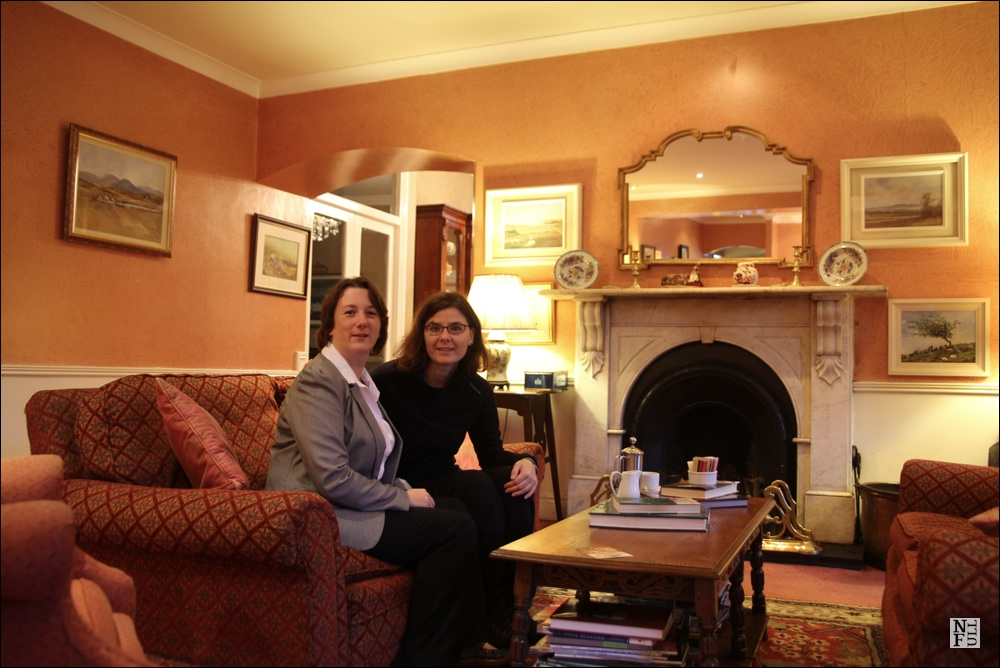 Martina and me in a drawing room