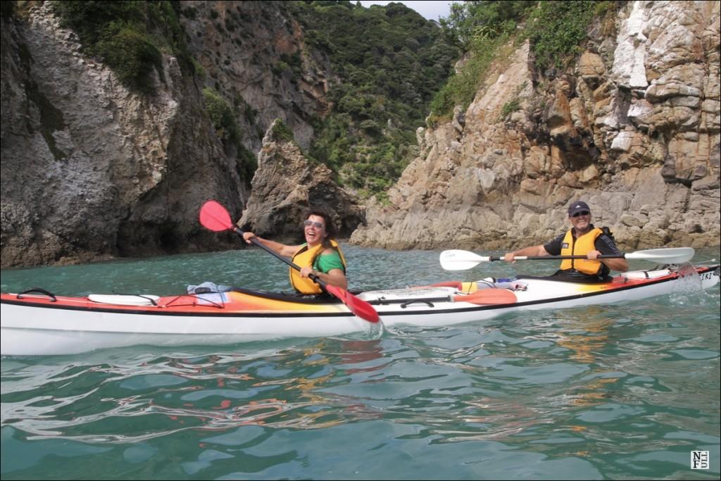 Sea kayaking is fun!