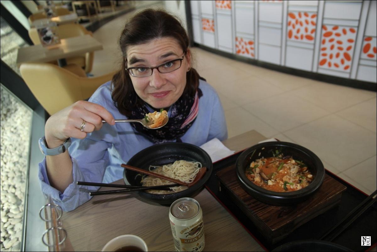 Chinese food at Shanghai airport