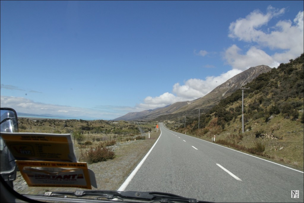 Driving a campervan in New Zealand
