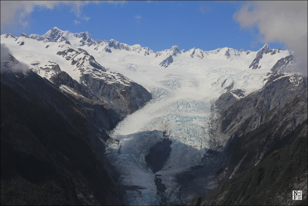 Franz Josef Glacier seen from Alex Knob peak