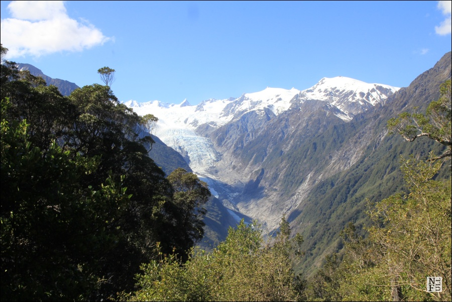 Along the track: view on Franz Josef glacier. New Zealand.
