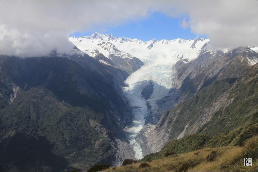 Franz Josef Glacier seen from Alex Knob, South Island, New Zealand