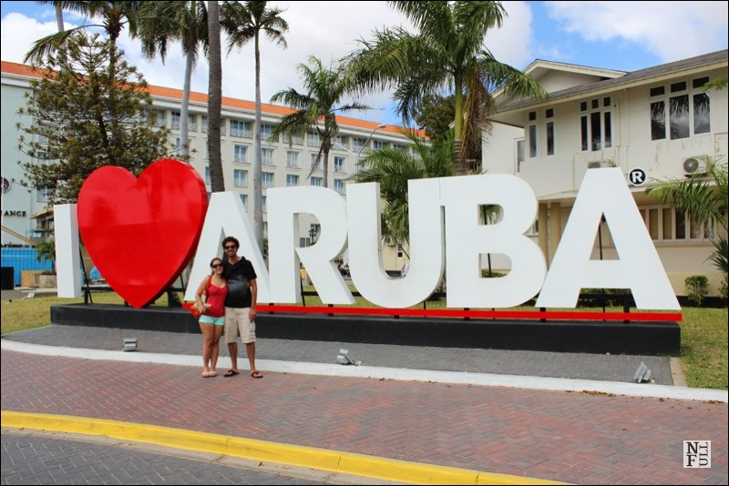 Justin and Lauren in Aruba