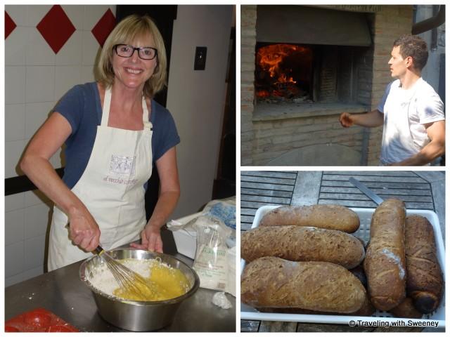 Making bread at Al Vecchio Convento in Portico di Romagna