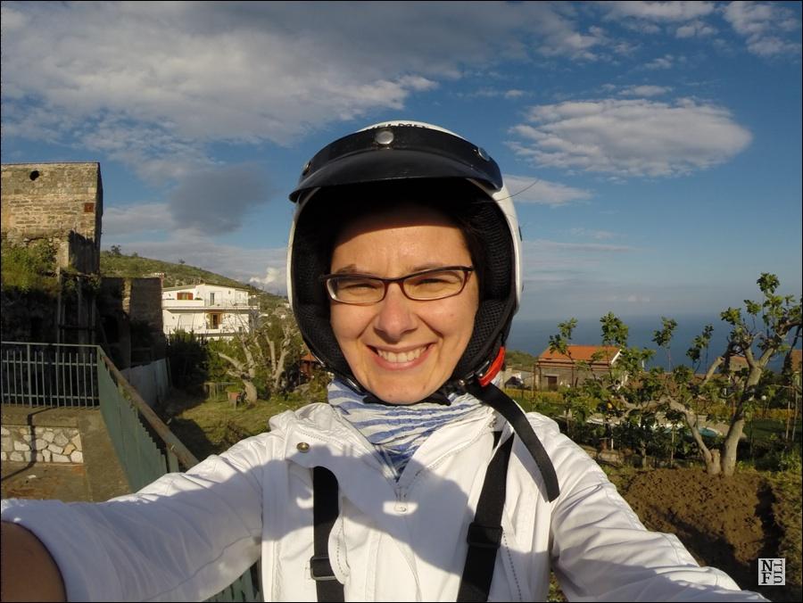 Driving a scooter around Costiera Amalfitana