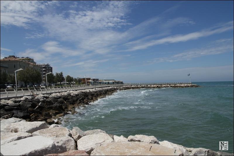 Adriatic Sea in Pesaro, Marche, Italy