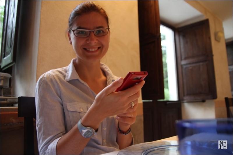 Me having fun at a restaurant Antico Furlo, Marche, Italy