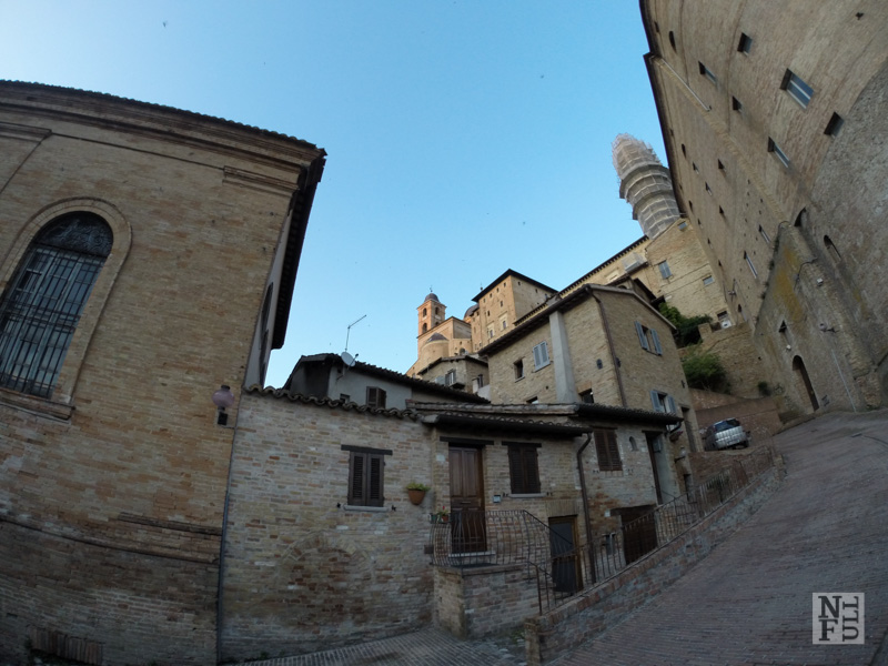 Panorama of downtown of Urbino, March, Italy