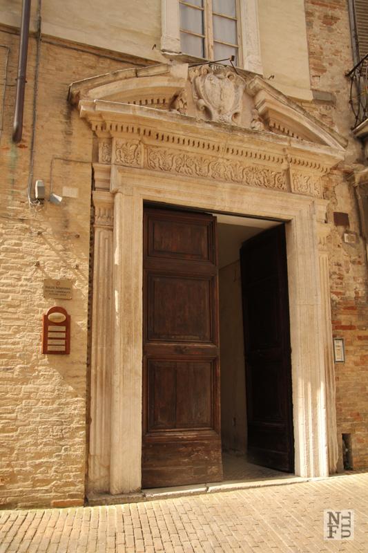 Magnificent door, Urbino, Marche, Italy