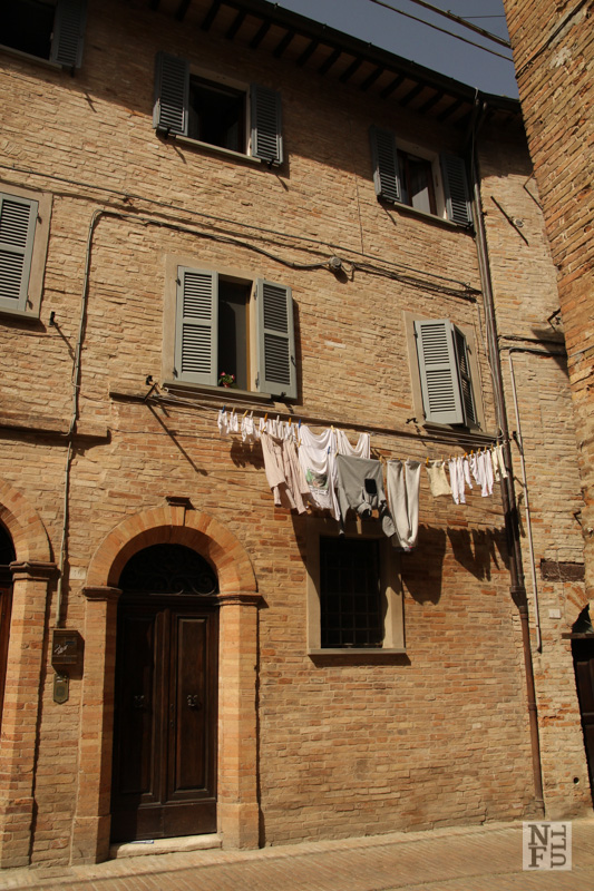 Detail of ordinary life in Urbino, Marche, Italy