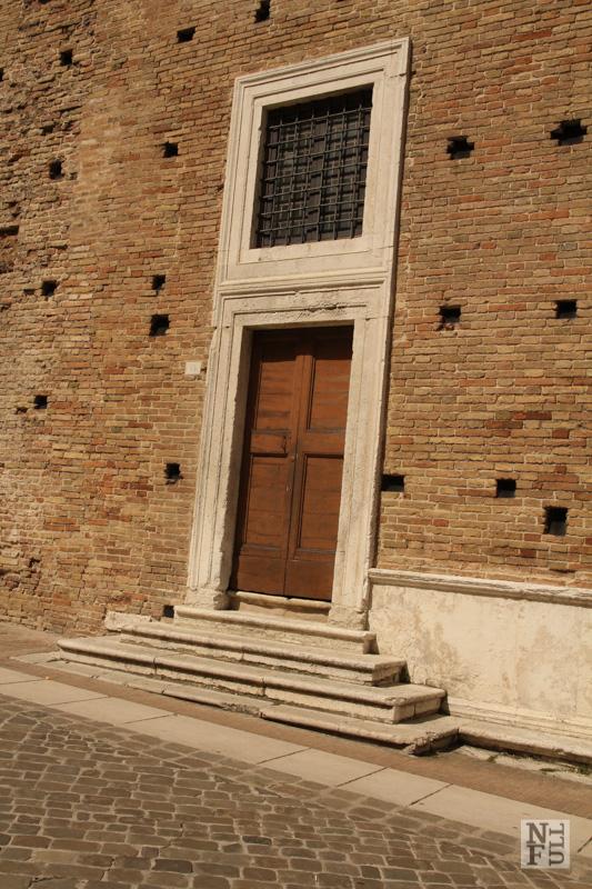 Back door to Pallzzo Ducale, Urbino, Marche, Italy