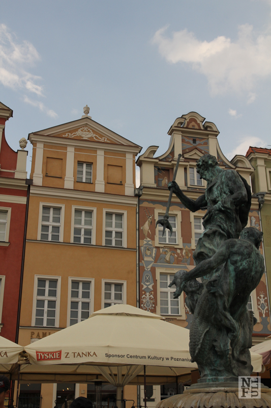 Central square - Stary Rynek - and colorful houses. Poznan, Poland