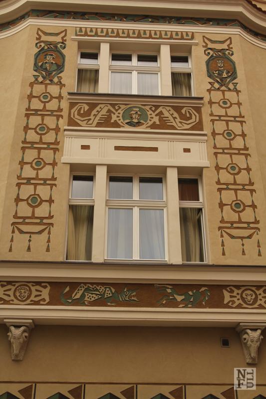 One of the houses around central square - Stary Rynek. Poznan, Poland