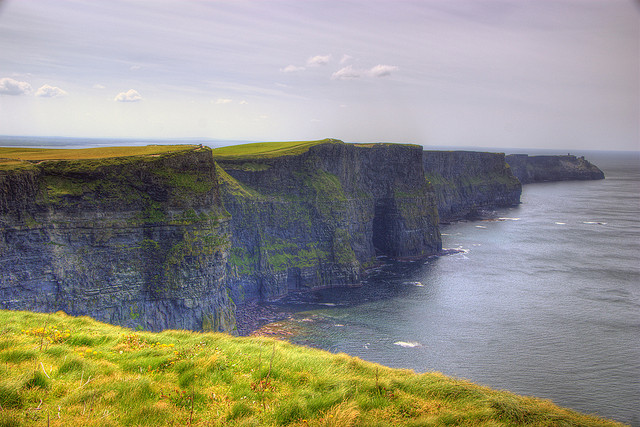 Cliffs of Moher. Forget about the water skis, now that's extreme!