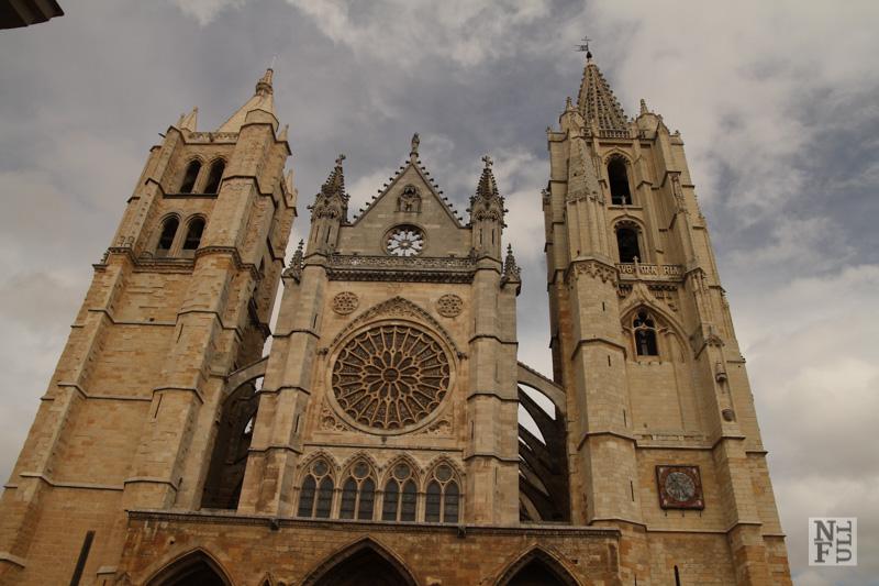 Cathedral in Leon, Camino de Santiago, Spain