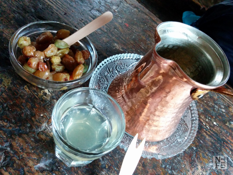 Rakomelo: Traditional greek drink served hot, Kerameio Cafe, Athens, Greece