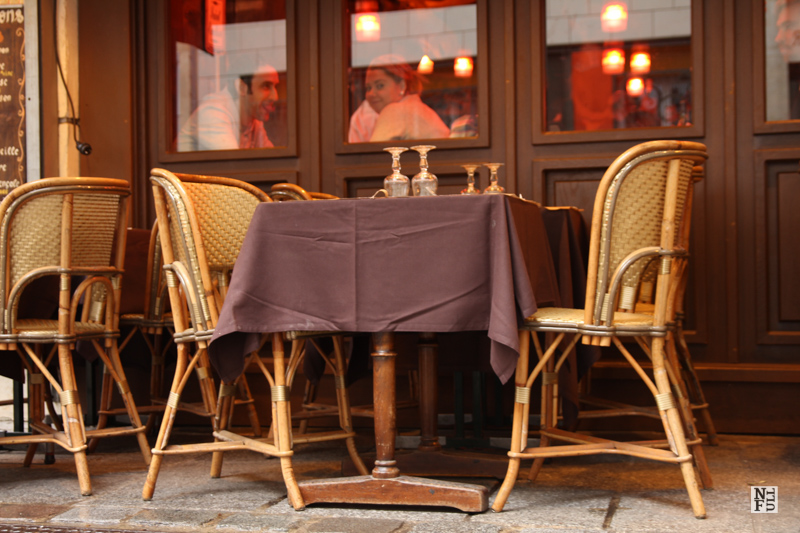 One of hundreds cafes along every boulevard is what we love Paris for