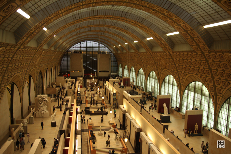 Main hall of Musee d'Orsay, Paris, France