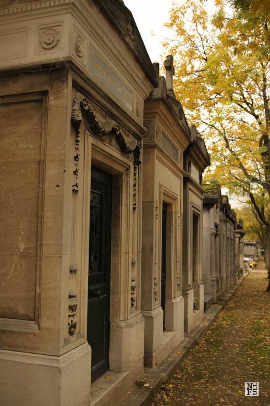 Montparnasse graveyard in autumn, Paris, France