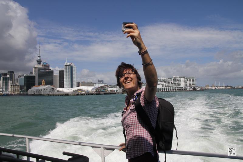 A tourist on Waiheke ferry. It's me.