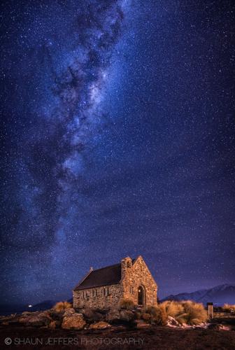 Milky Way over Lake Tekapo by Shaun Jeffers, New Zealand