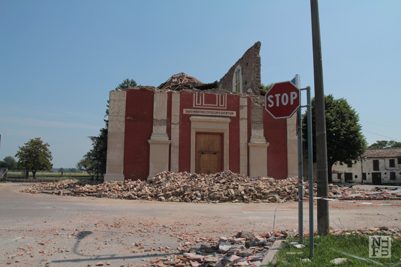 Earthquake in Emilia-Romagna, Italy.