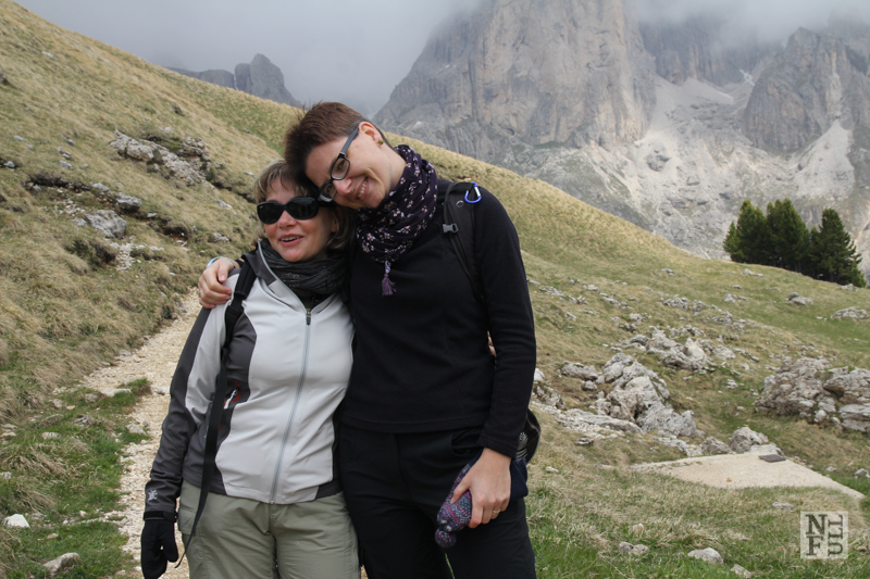Me and Claudia in the Dolomites, Italy.
