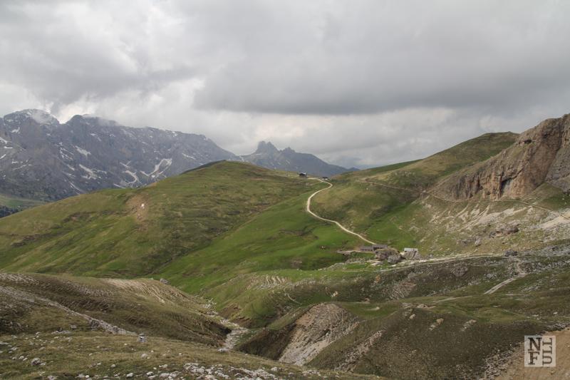 From refuge Sasso Piatto to refuge Sandro Pertini. Dolomites, Italy.