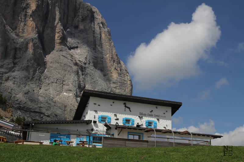 Refuge Comici, the Dolomites, Italy.
