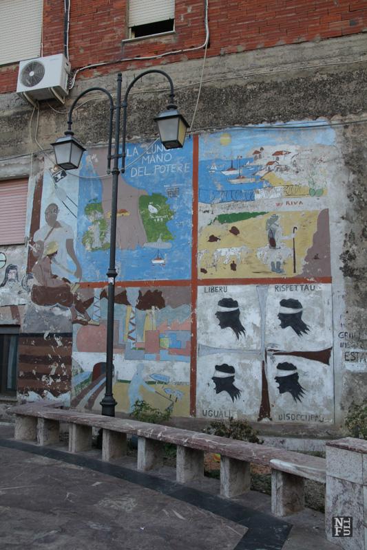 Murals in Fluminimaggiore, Sardinia, Italy.