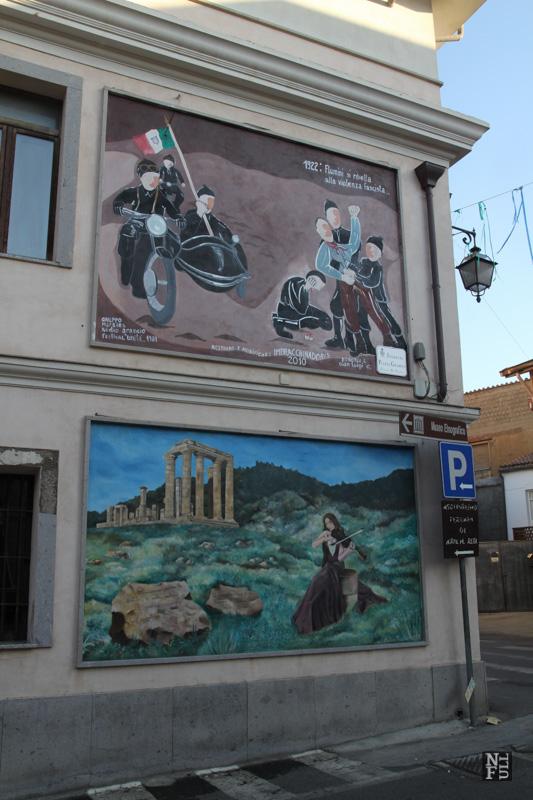 Mural in Fluminimaggiore, Sardinia, Italy.