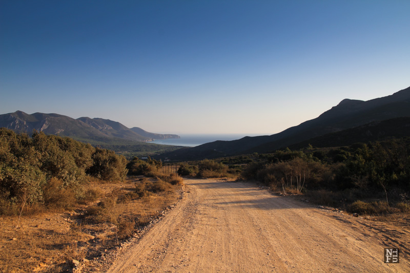 Dry and unforgiving terrain of Sardinia, Italy.