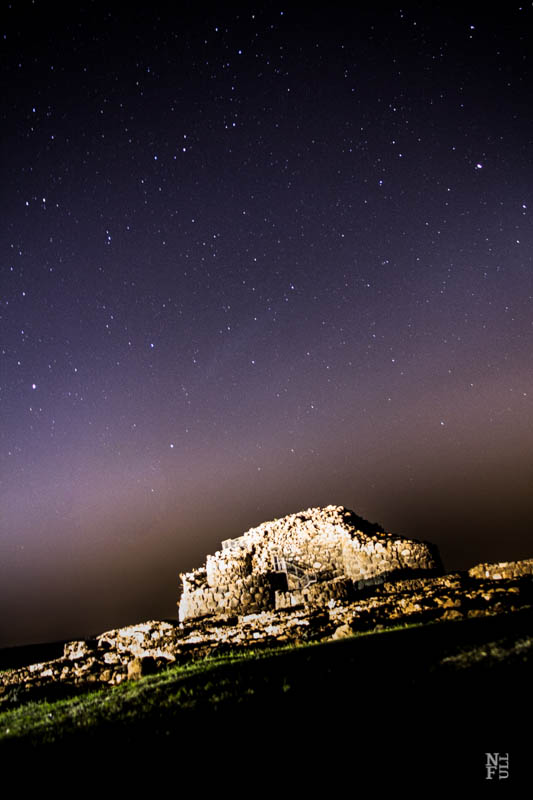 Barumini by night. Sardinia.