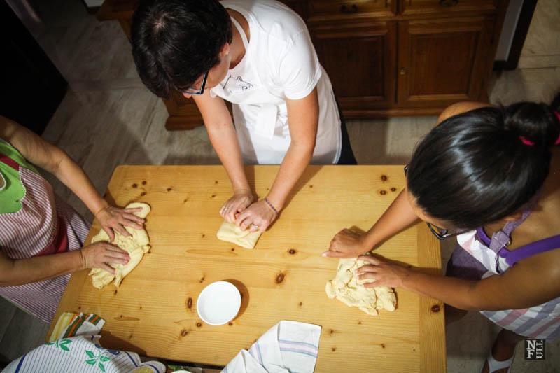 Cooking lesson in Fluminimaggiore, Sardinia.