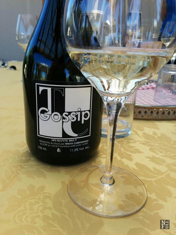 Sparkling wine Gossip, Tenuta Carbognano, Gemmano, Italy