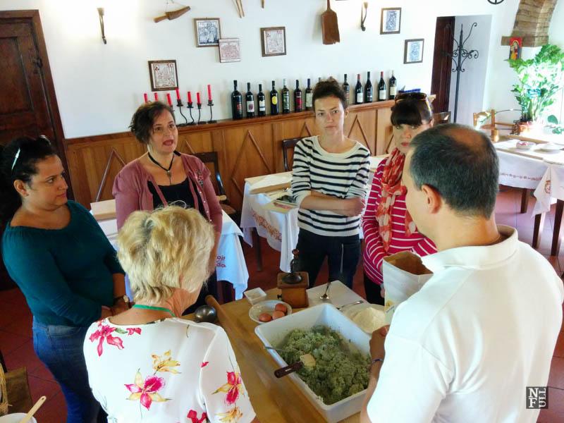 Bloggers at work, Al Vecchio Convento, Portico di Romagna, Italy