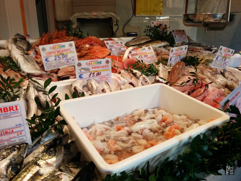 Local fish store, Oria, Puglia