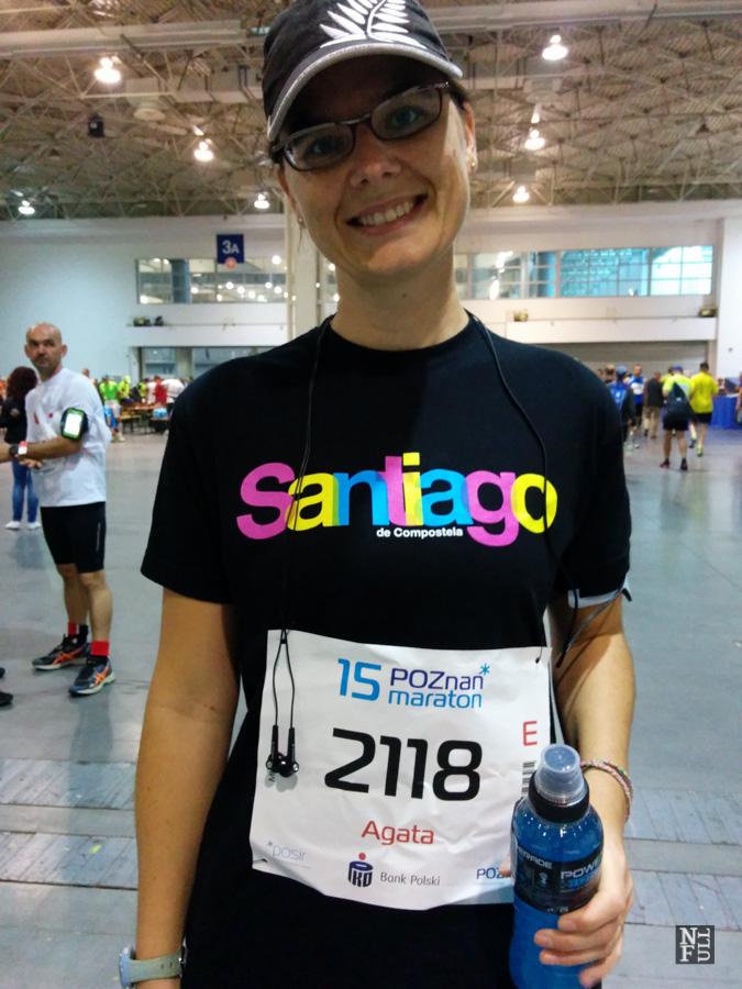 Me running my first marathon