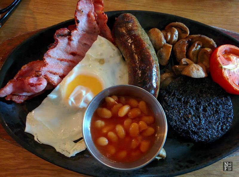 Full English breakfast on Saturday , Edinburgh, Scotland